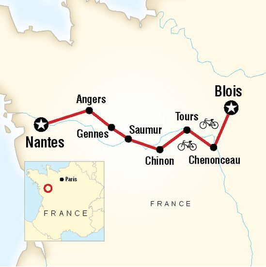 Loire Valley Map From Tours To Angers Loire Valley France Travel
