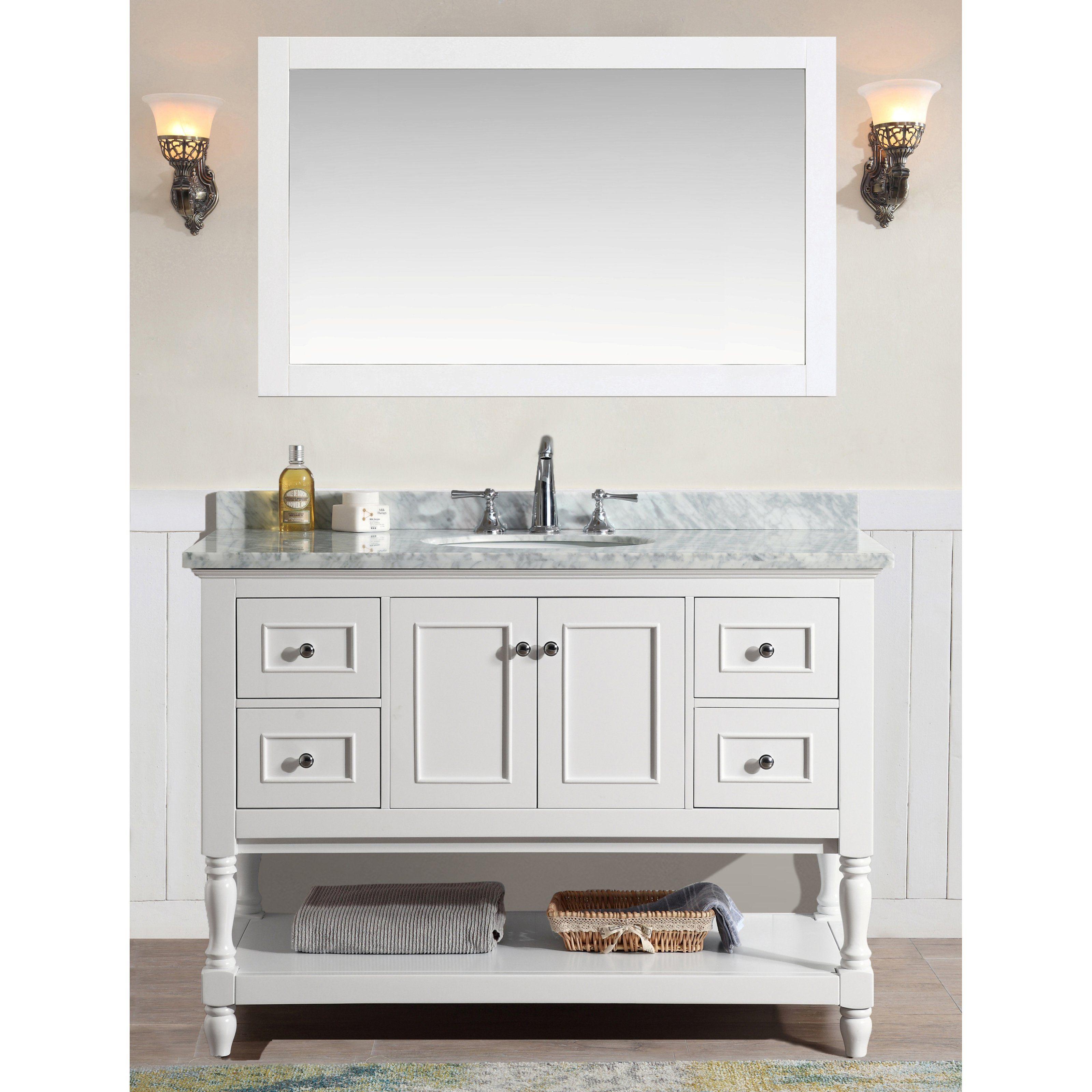 Ari Kitchen and Bath Cape Cod 48 in. Single Bathroom Vanity Set with ...