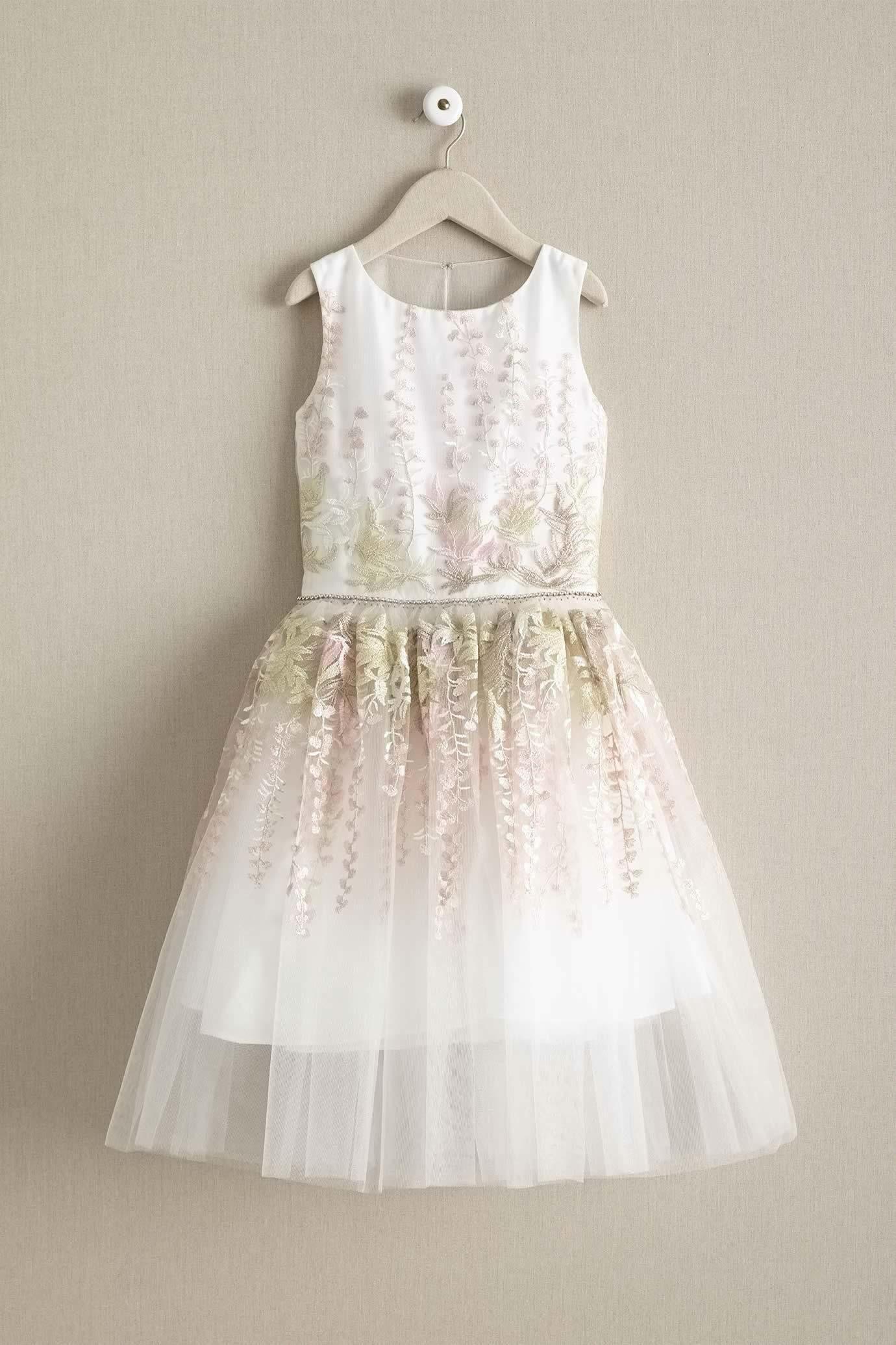 957753e9885 David Charles Girls Pastel Wisteria Dress
