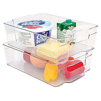 Mondex PLS274-00 Boîte de Rangement pour Réfrigérateur Plastique Transparent 31,5 x 21,5 x 9 cm ...