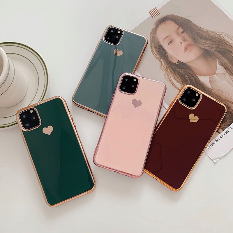 Electroplated Heart Soft Iphone Case Luxury Iphone Cases Iphone Cases Iphone