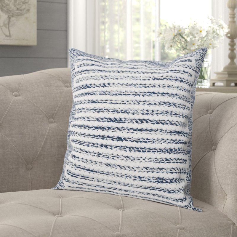 Mulder Cotton Throw Pillow Blue Throw Pillows Throw Pillows Pillows