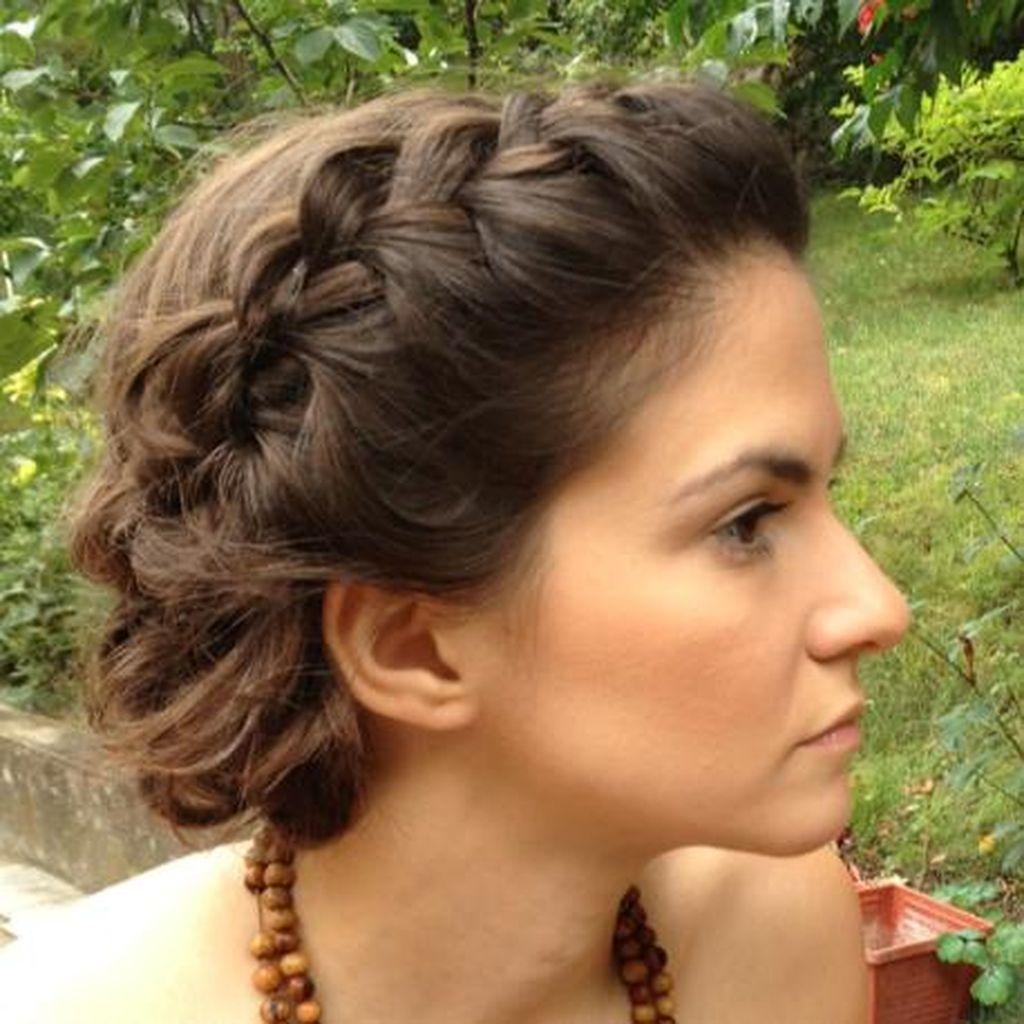 38 Beautiful Crown Braid Hairstyles Ideas | Medium hair ...