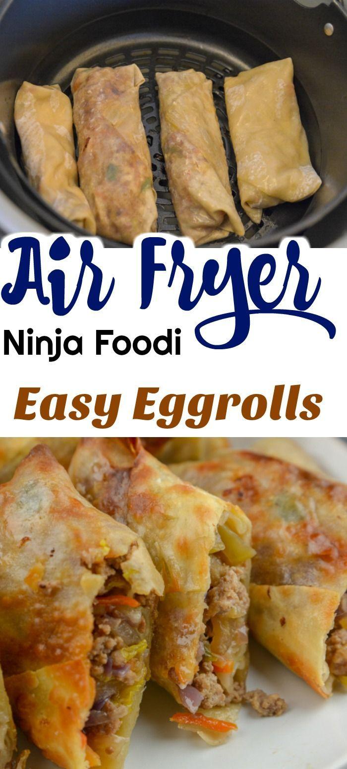 Airfryer or Ninja Foodi Egg Rolls #eggrolls