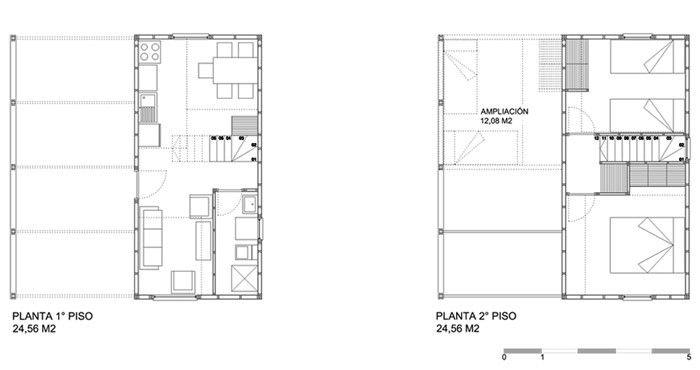 Casa vsa vivienda social 2010 cabina vivienda for Viviendas pequenas planos