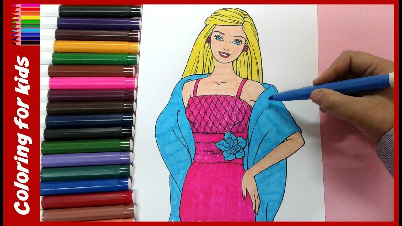 coloring pages for girls : How to color dress barbie coloring pages ...