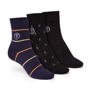 ThokkThokk 3er Pack Mid-Top Socken Black/Stripe/Arrow