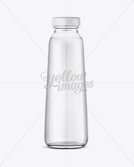 Download 300ml Clear Glass Water Bottle Mockup In Bottle Mockups On Yellow Images Object Mockups Bottle Mockup Clear Water Bottle Water Bottle