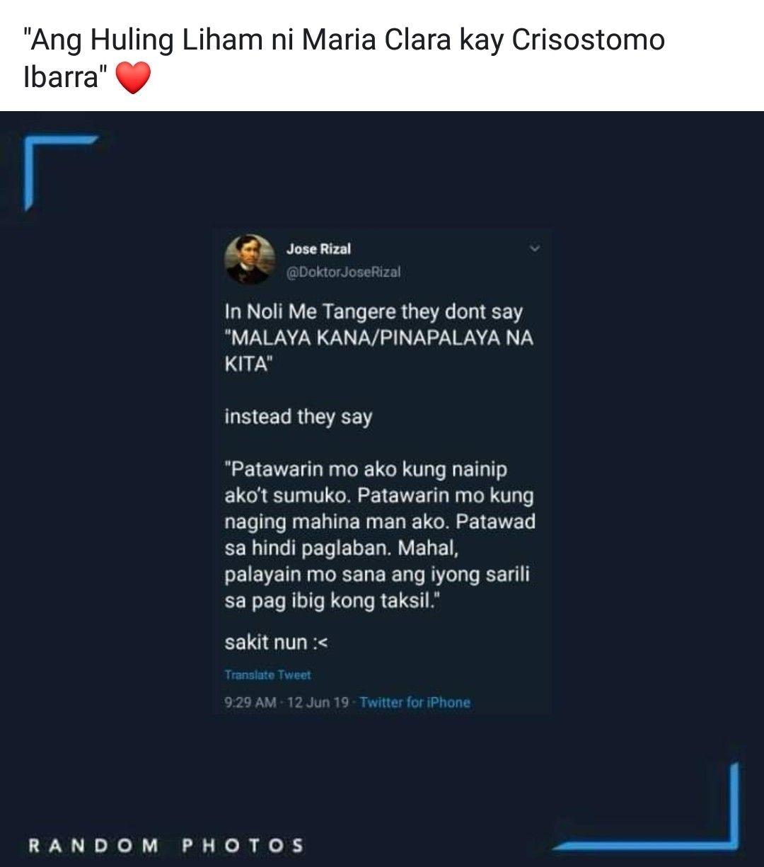 Pin By Lei Riz On Filipino Quotes Sense Filipino Funny Filipino Quotes Noli Me Tangere