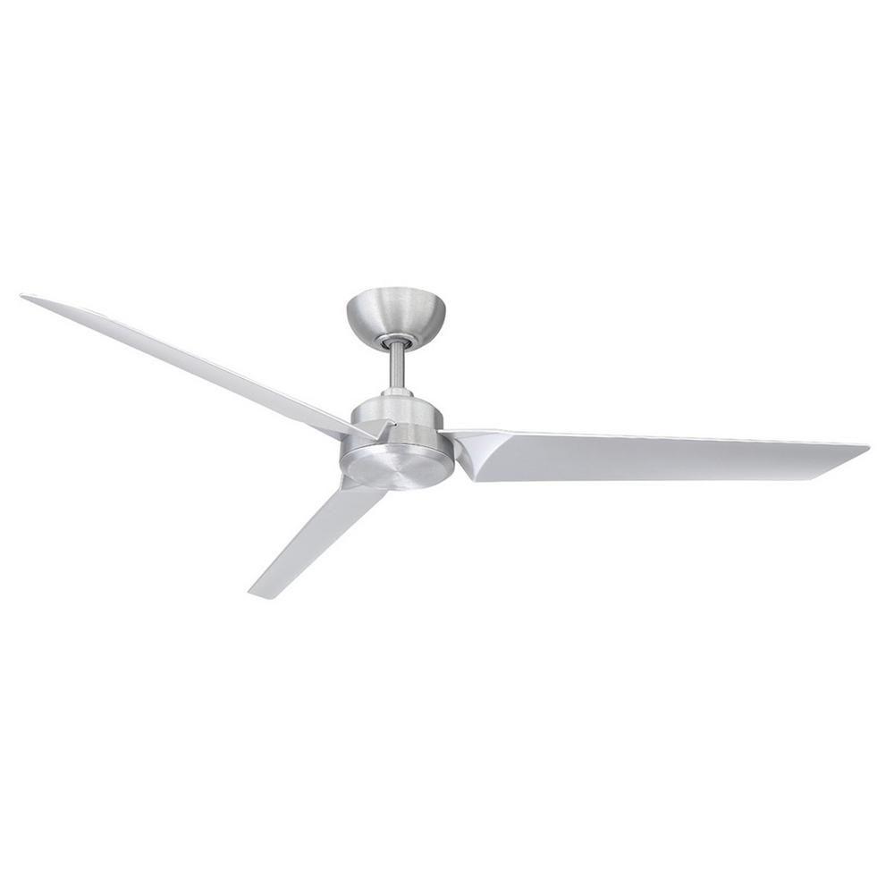 Modern Forms Roboto 62 In Indoor Outdoor Brushed Aluminum 3 Blade