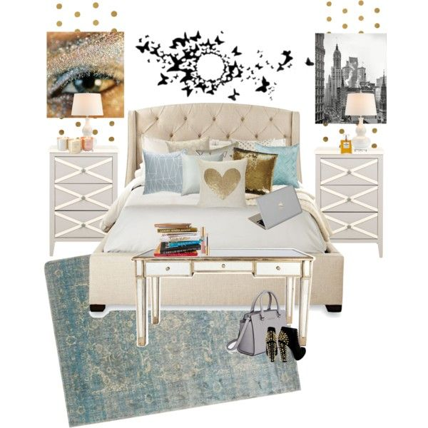 Serena Van Der Woodsen Bedroom By Gabriellecapes On Polyvore Featuring  Interior, Interiors, Interior Design