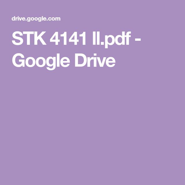 STK 4141 ll pdf - Google Drive | Electronics circuit | Pdf