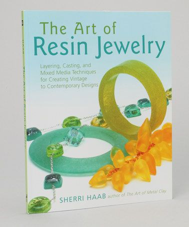 Take a look at this The Art of Resin Jewelry Paperback by
