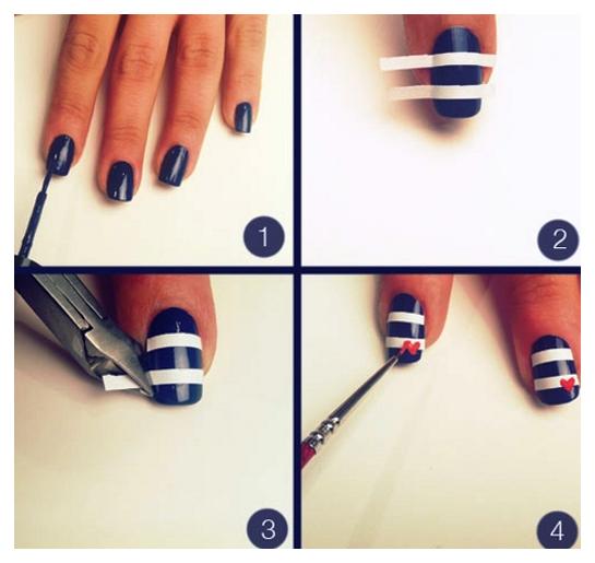 Nail Art IdeasTo Do At Home: Easy Nail Art Ideas Step By Step ...