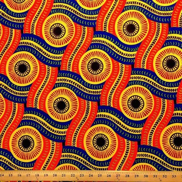 Serpent African Print 90116 3 Africans Fabrics And