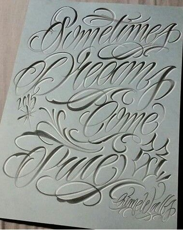 Chicano Lettering Graffiti Lettering Tattoo Lettering Fonts