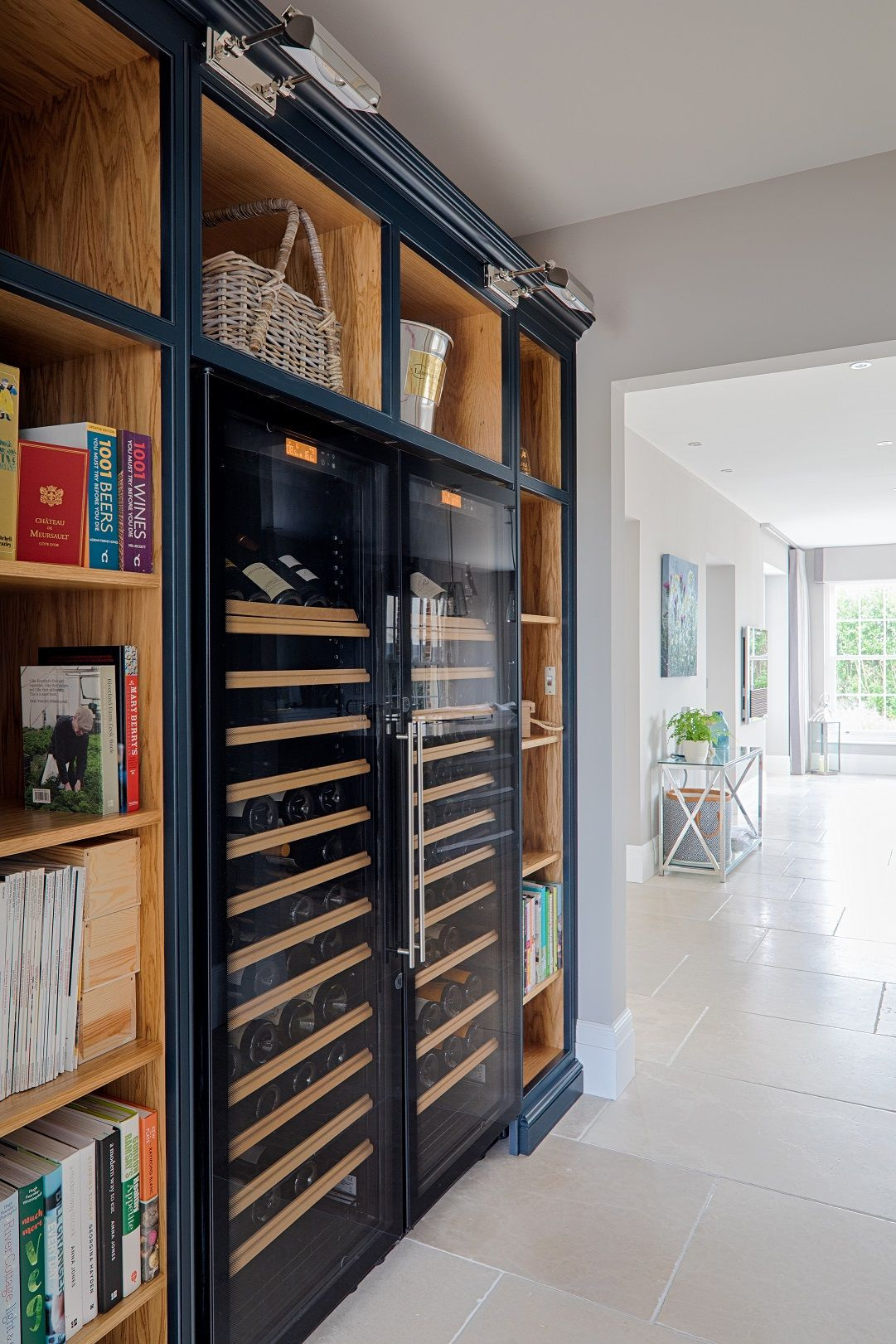 Two Huge Wine Cabinets From Eurocave Neatly And Snugly Grace This