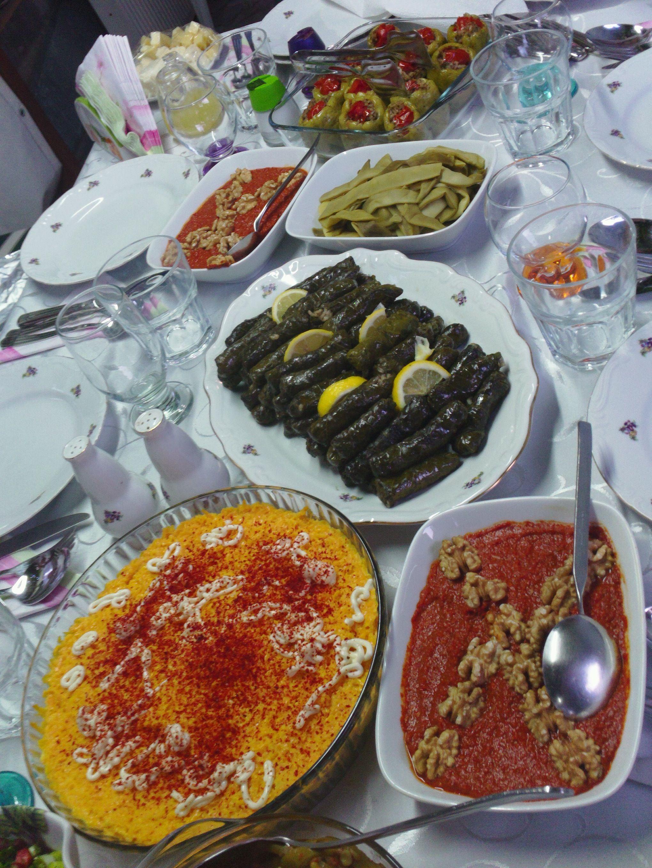 Turkish Dinner Table Turkish Recipes Yummy Food Food
