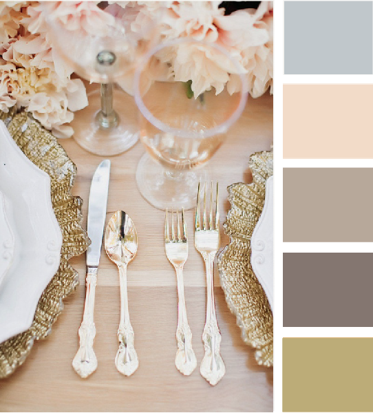 Wedding Colors: pale pink, champagne, gold, brown, and pale blue accents mixed with burlap and lace.