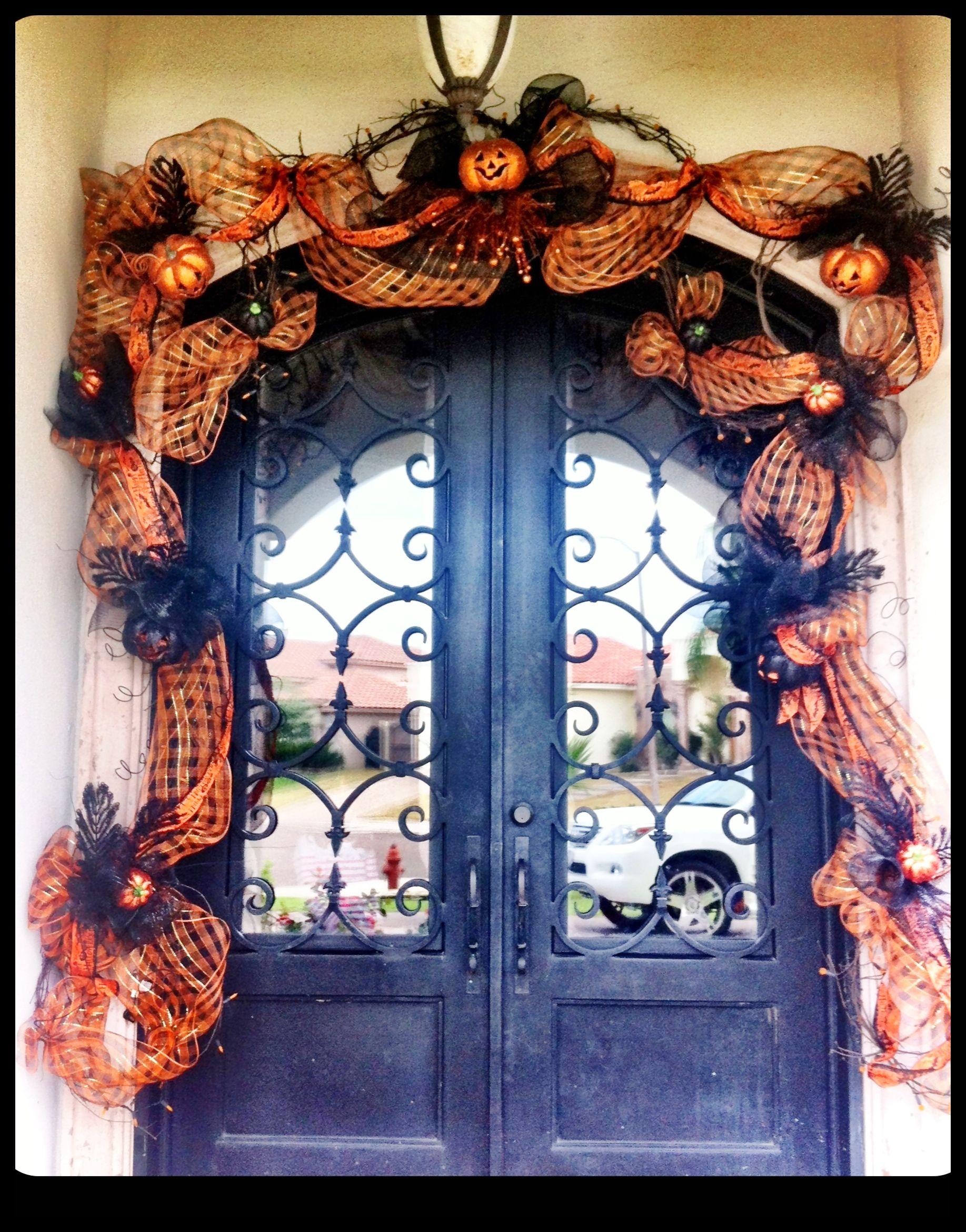 Decorating Your Front Door For Halloween Halloween Door Decorations Halloween Front Porch Decor Halloween Decorations