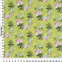 Character Licensed Flannel - Tinkerbell on Lime Green Cotton Flannel Fabric