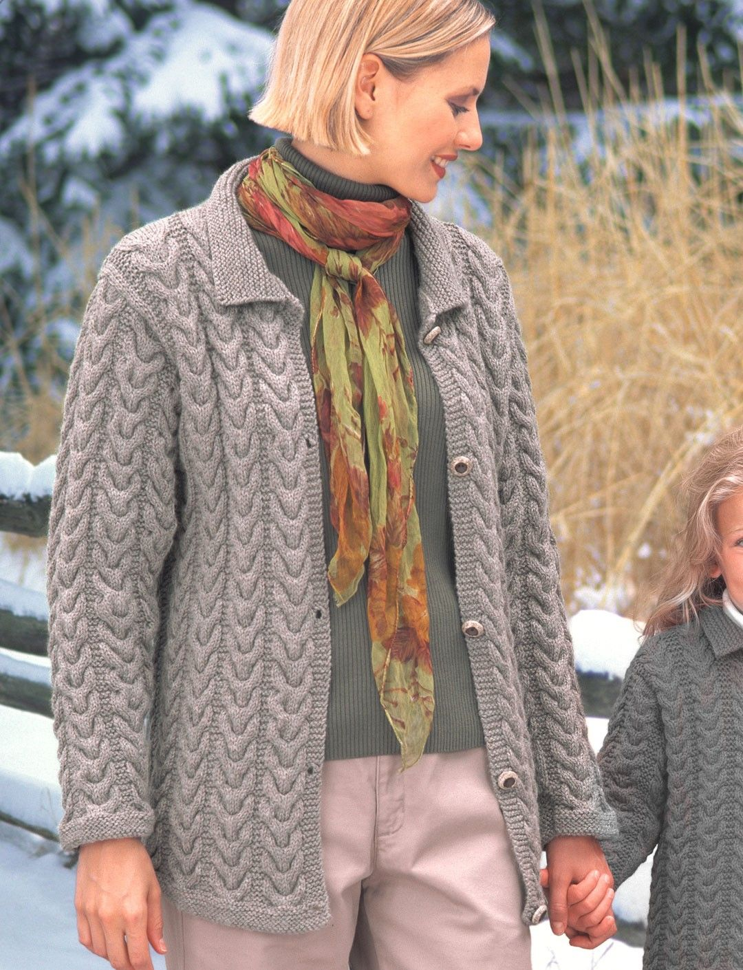 Yarnspirations.com - Patons KW - Ladies Cuddly Cables Cardigan (knit ...