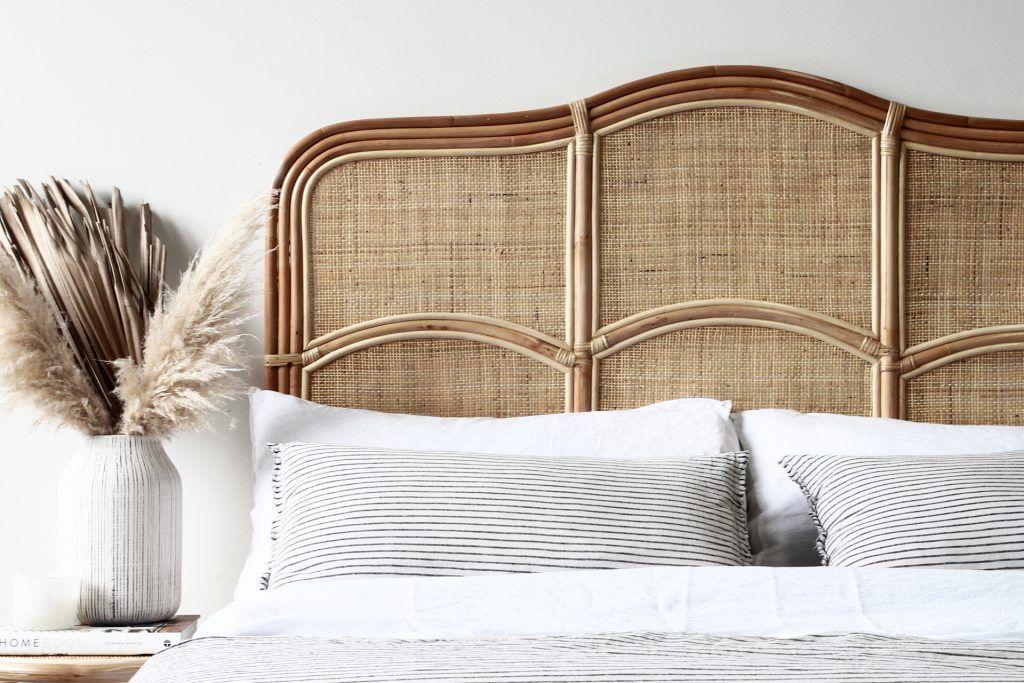 Biscayne Queen Bedhead Natural Naturally Cane Rattan And Wicker Furniture In 2020 Cane Furniture Furniture Antique Bedroom Furniture