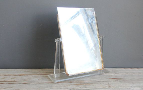 Extra Large Lucite Vanity Mirror by GallivantingGirls on Etsy, $65.00