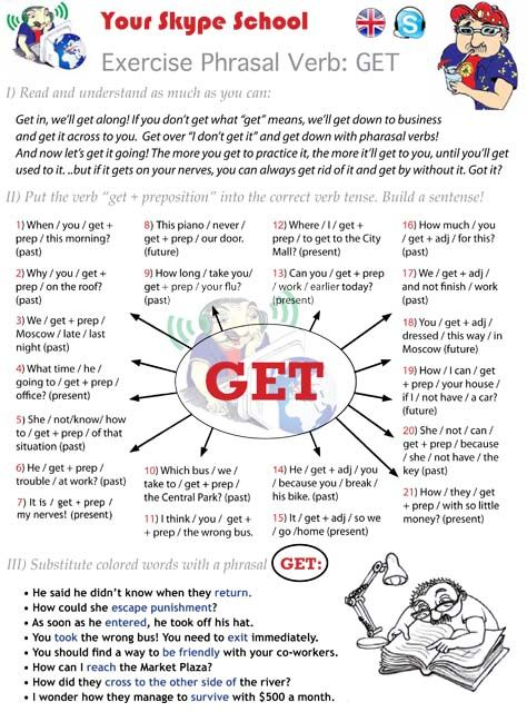 to GET - #exercise #phrasal verb and #collocations - #your