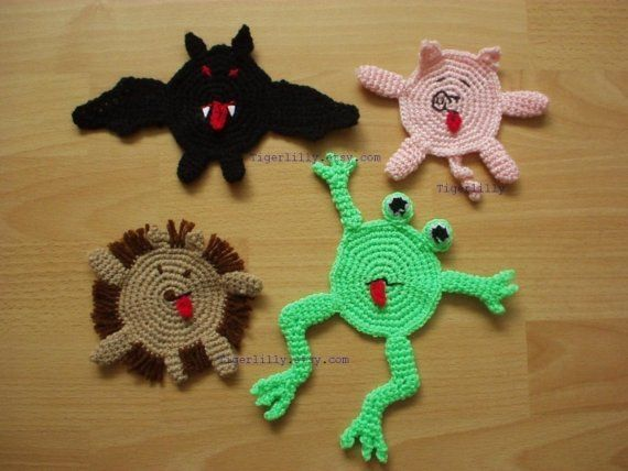 crocheted animal coasters   Crazy coasters amigurumi crochet pattern ...