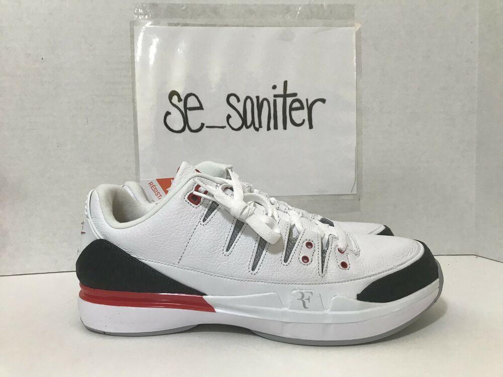 17e41b70e8e7 Nike Air Jordan Zoom Vapor X RF AJ3 Fire Red Roger Federer 709998 106 Size  11  shoes  kicks  fashion
