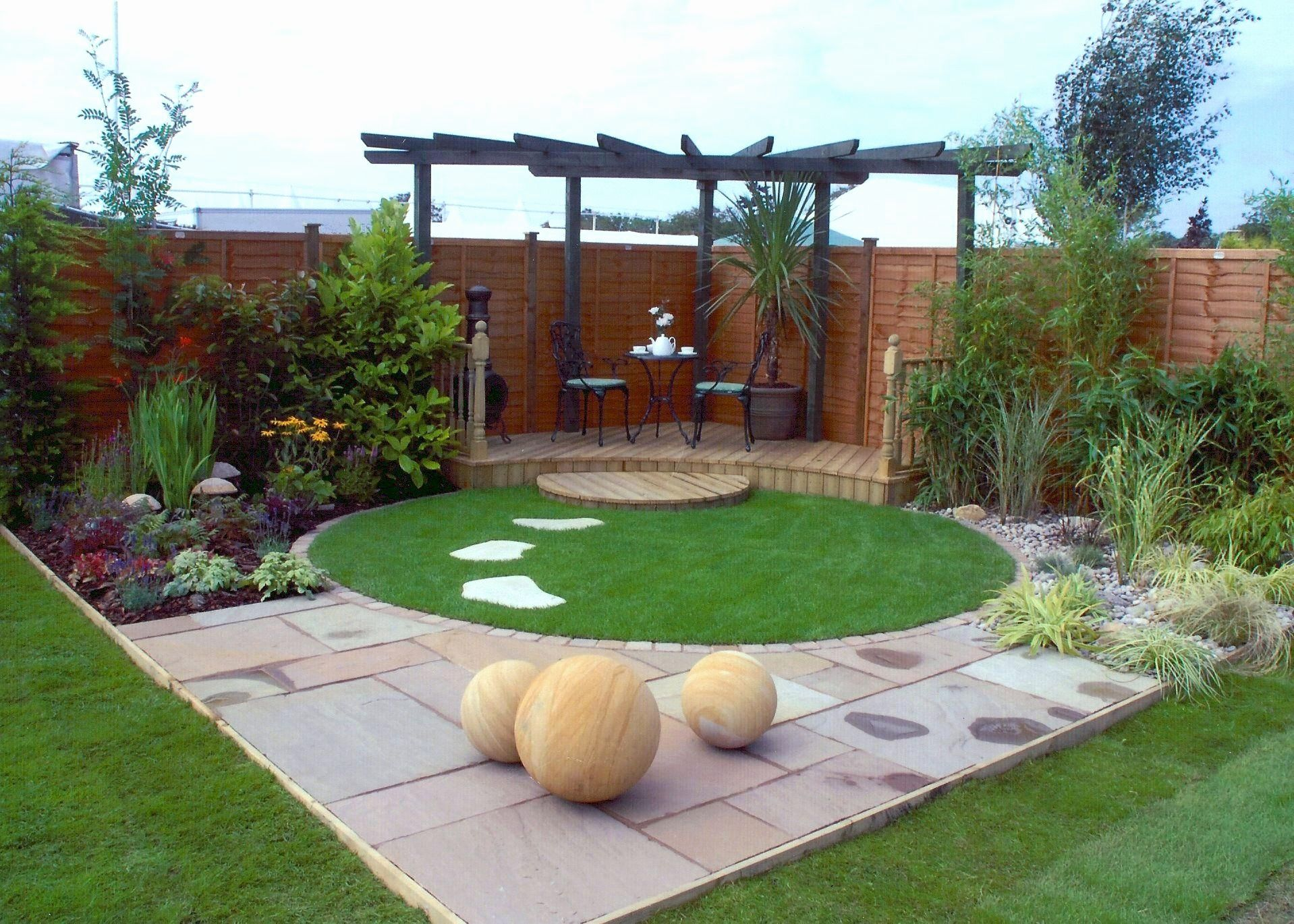 Image result for circular lawn garden designs | Small ... on Square Patio Designs id=27395