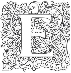 mendhika letter e image coloring letters letter b