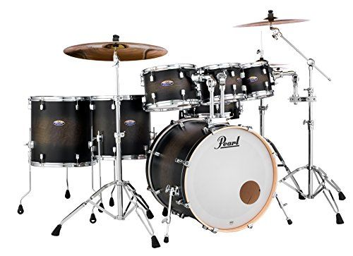 Pearl Dmp927spc Decade Maple 7 Pc Drum Shell Pack Satin Black