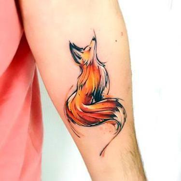 Cute Watercolor Fox Tattoo Idea Fox Tattoo Fox Tattoo Design Watercolor Fox Tattoos