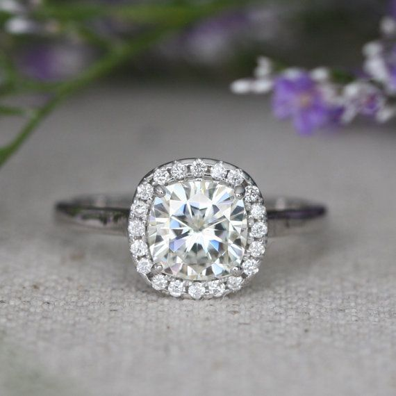Hey, I found this really awesome Etsy listing at https://www.etsy.com/listing/205917216/cushion-moissanite-diamond-engagement