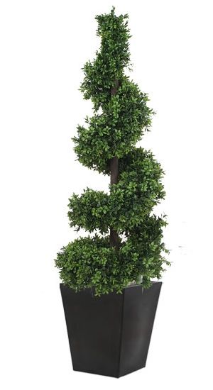 Outdoor Topiary Pic Spiral From Red Hot Plants Artificial For