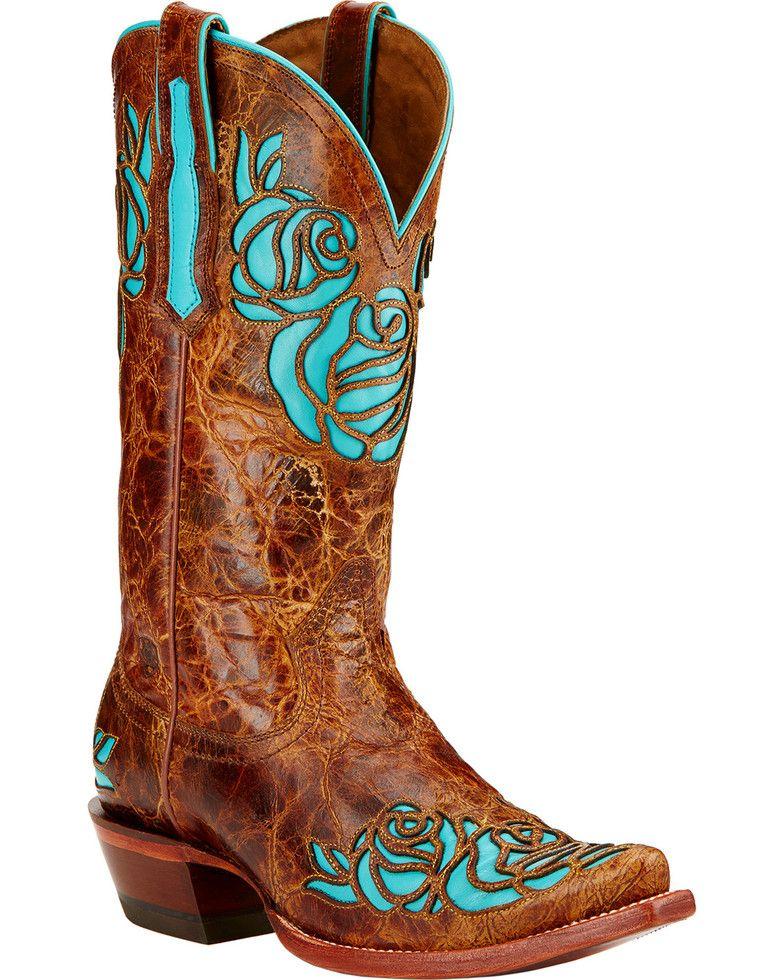 Ariat dusty rose riding boots snip toe saddle tan