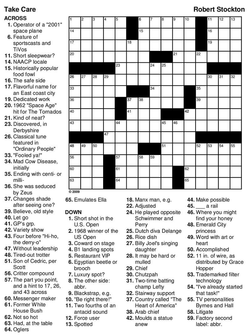 Printable Games For Adults Football Theme   Crossword ...