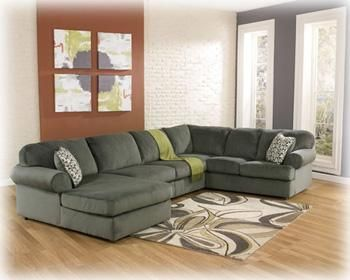 Amazing Jessa Place Pewter Sectional | Muncie Daleville Indiana Furniture Outlet