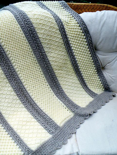 6 Stitches Crochet Aran Throw - Free Pattern | Decken und Häkeln