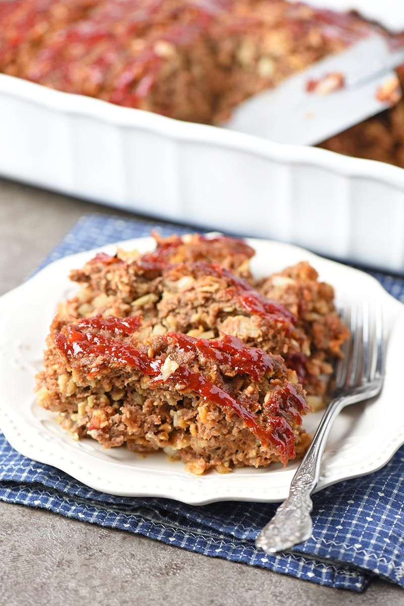 How To Make The Best Meatloaf Ever With Oatmeal Bbq Sauce And More Simple Dinner Rec Meatloaf Oatmeal Recipe Best Meatloaf Easy Meatloaf Recipe With Oatmeal