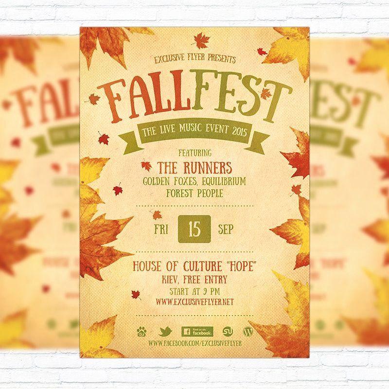 Fall Festival Flyer Template Festival Flyer Event Flyer Templates Fall Festival