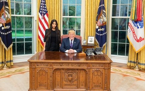 Kim Kardashian West Meets Donald Trump At The White House Kim