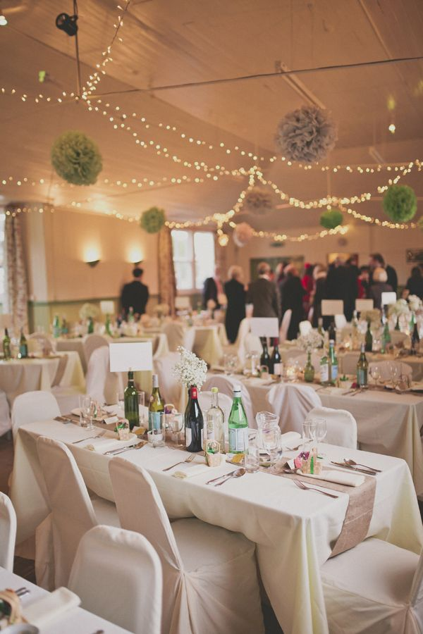 Simple Personal Diy Coral Village Hall Wedding Wedding Lights