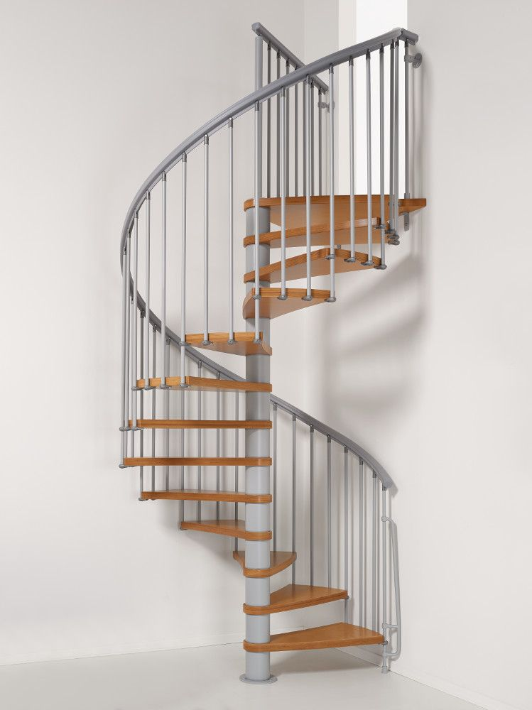 Nice1 Staircase Kit From Arkè, Inc, In Grey With Natural Wood Treads. An  Iconic Selection Of Indoor And Outdoor Staircase Kits, Designed And  Manufactured In ...