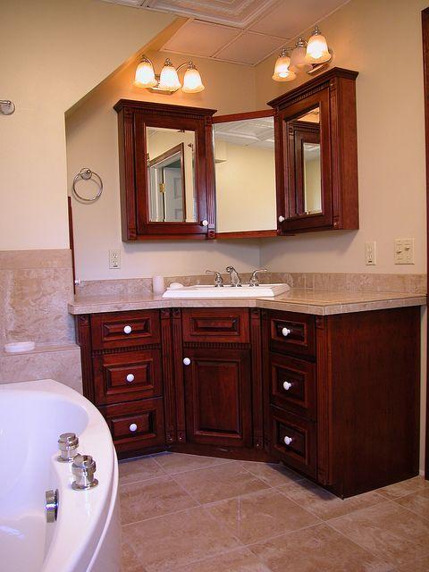 B18 1 Corner Sink Bathroom Small Kitchen And Bath Gallery Small Bathroom Remodel