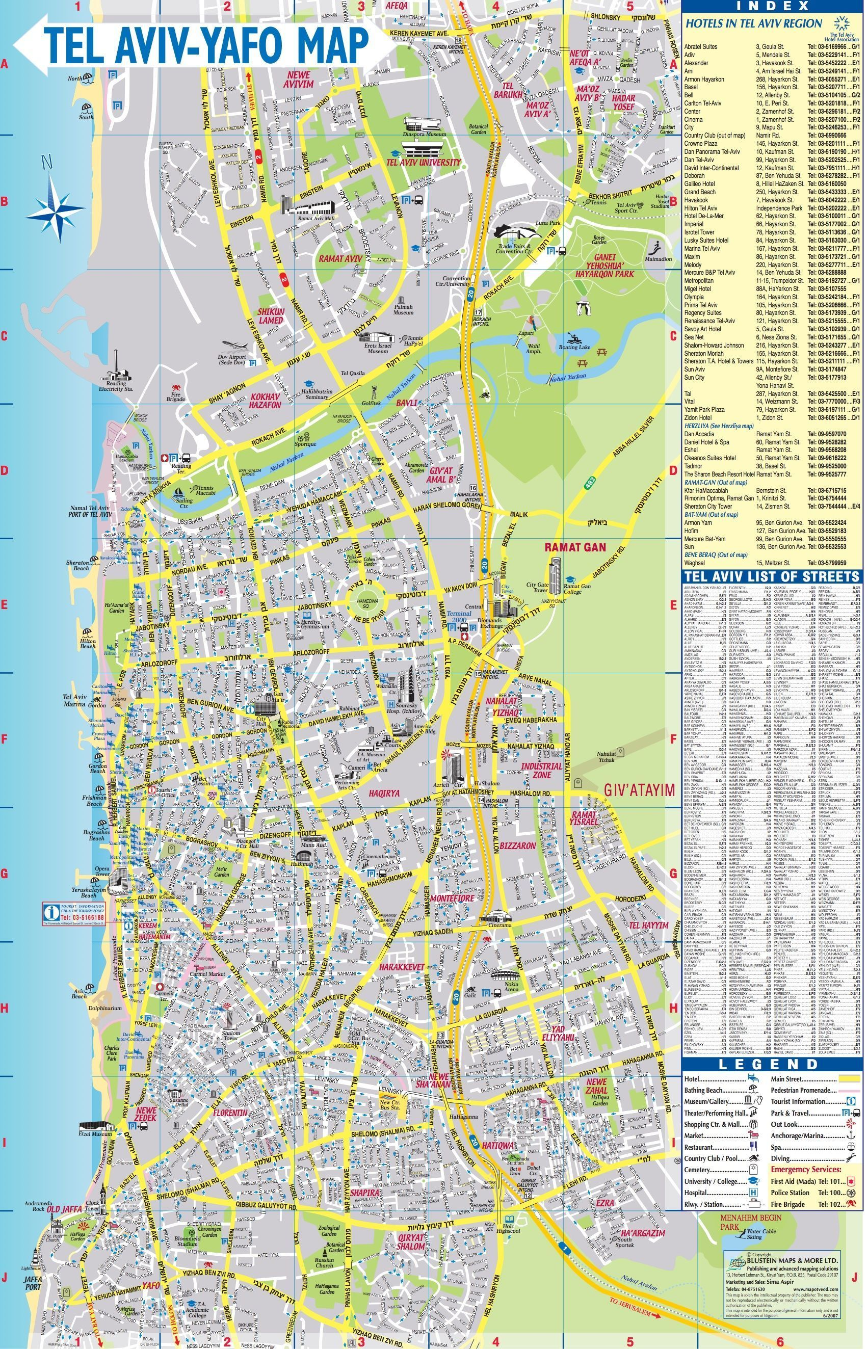 Map Of Tel Aviv Map of Tel Aviv | Maps about Israel | Tel Aviv, Map, Tel aviv israel Map Of Tel Aviv