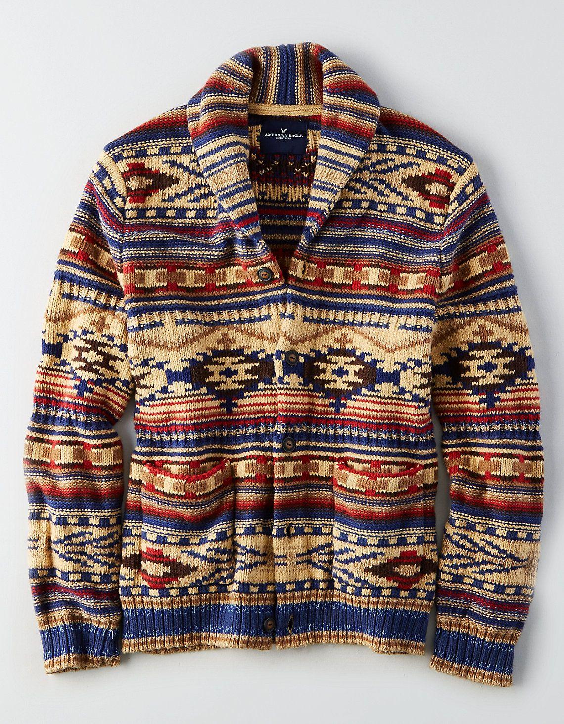 AEO Shawl Cardigan Sweater in Oatmeal   Sweaters/Cardigans ...