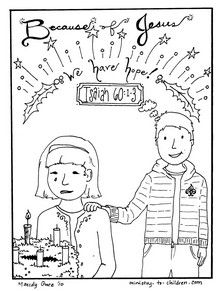 weekly coloring page for advent...teaching message and ...